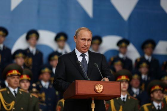 В. Путин  на «Армия-2015»