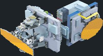 """Двухдиапазонная многофункциональная масштабируемая бортовая радиолокационная станция. Рисунок предоставлен корпорацией """"Фазотрон-НИИР""""."""