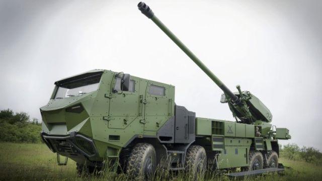 155 мм САУ CAESAR на шасси Tatra 88