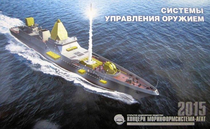Вариант фрегата проекта 22350M+.