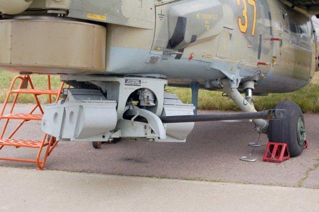 2А42, установленная в подфюзеляжной турельной установке вертолёта Ми-28Н.