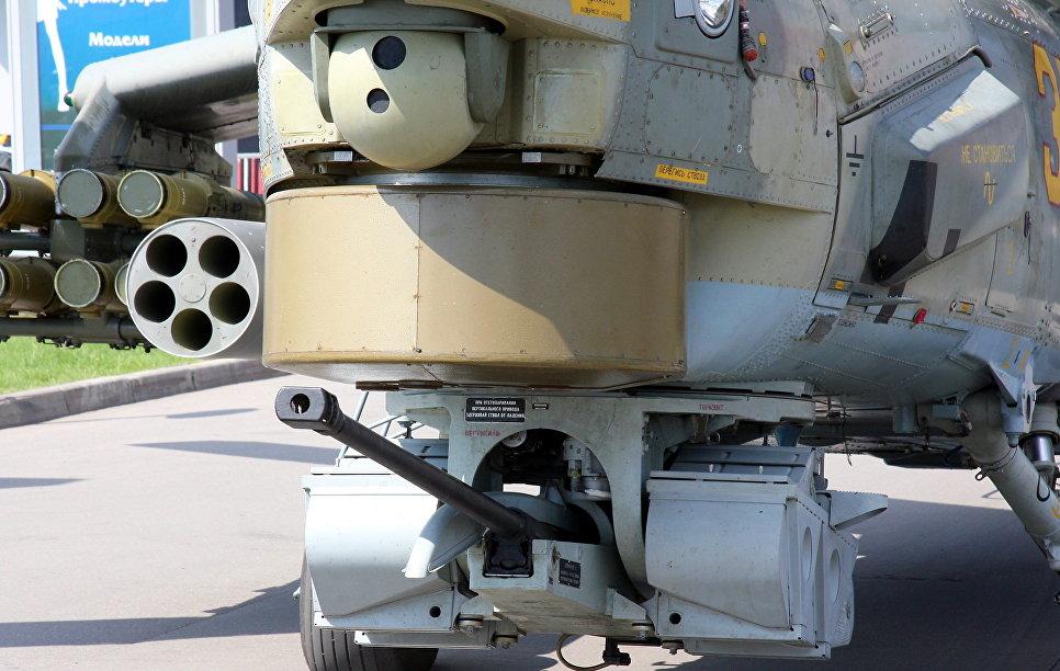 30-мм пушка 2А42 на Ми-28НЭ.