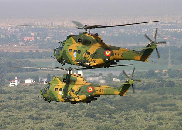 Вертолеты IAR 330L Puma ВВС Румынии.