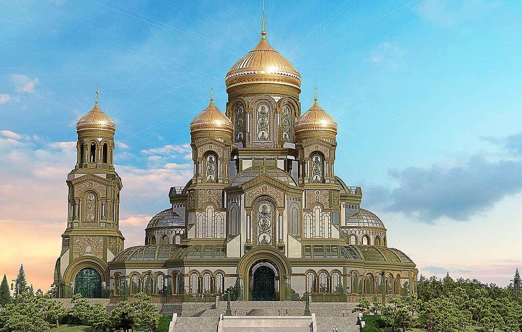 Главный храм Вооруженных Сил РФ строят в круглосуточном режиме