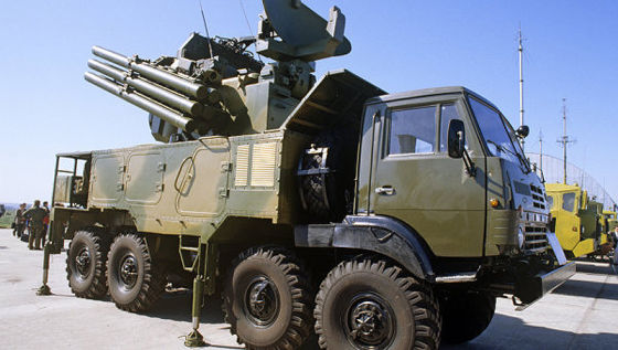 "Прототип ЗРПК ""Панцирь-С1"" на шасси Урал-5323-20"