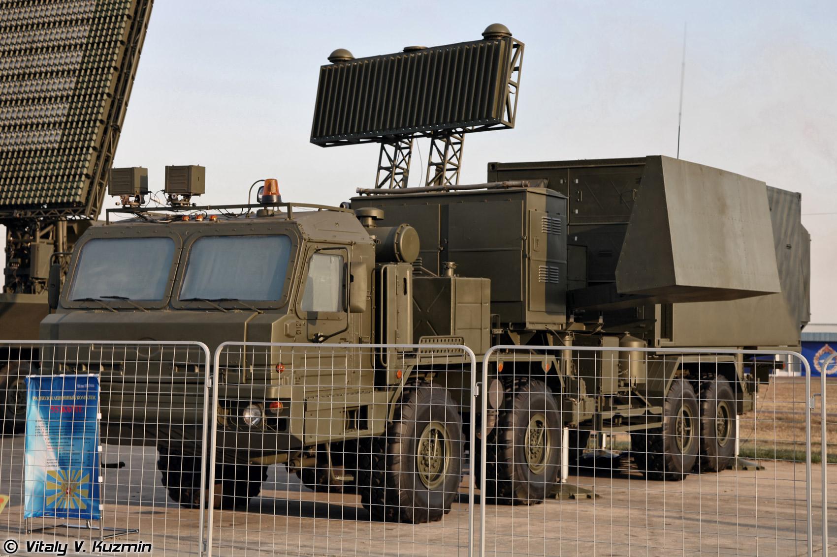 Veículo de controle RLM-KU do sistema Nebo-M