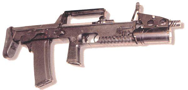 Современный вариант автомата А-91 под патрон 5.56х45мм НАТО (экспортный вариант. 2003 год). 40мм гранатомет расположен под стволом.<br>Источник: http://topwar.ru/.