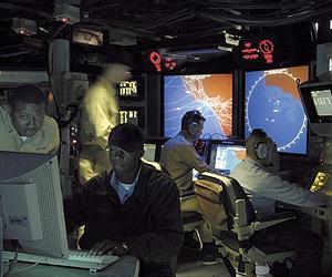 Боевой информационный центр системы AEGIS. Источник: spacedaily.com.