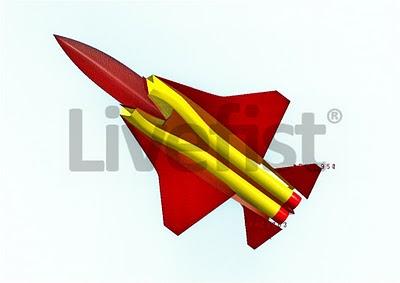 CAD-изображения  разрабатываемого индийского стелс-истребителя пятого поколения АМСА (Advanced Medium Combat Aircraft – передовой средний боевой самолет).