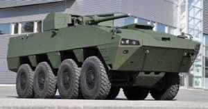 БТР AMV 8x8 с установленным новым боевым модулем PROTECTOR норвежской фирмы KONGSBERG.