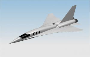 Концепция перспективного легкого сверхзвукового административного самолета (АС) - аэротакси (разработчик - ЦАГИ).