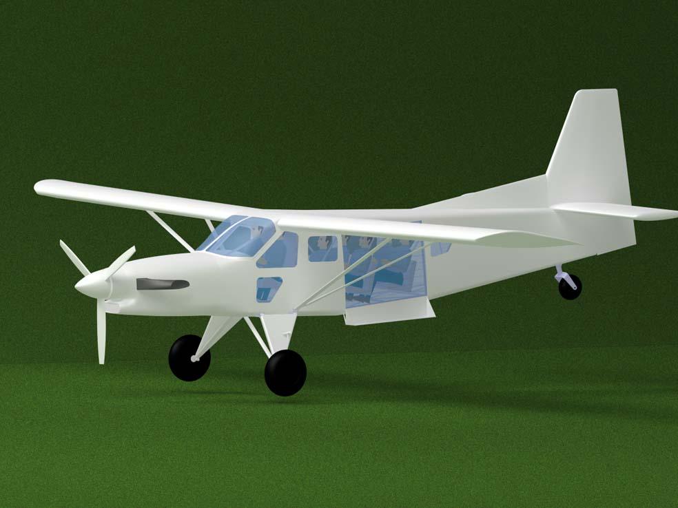 Компьютерная модель самолета AT-3. Источник: reaa.ru.
