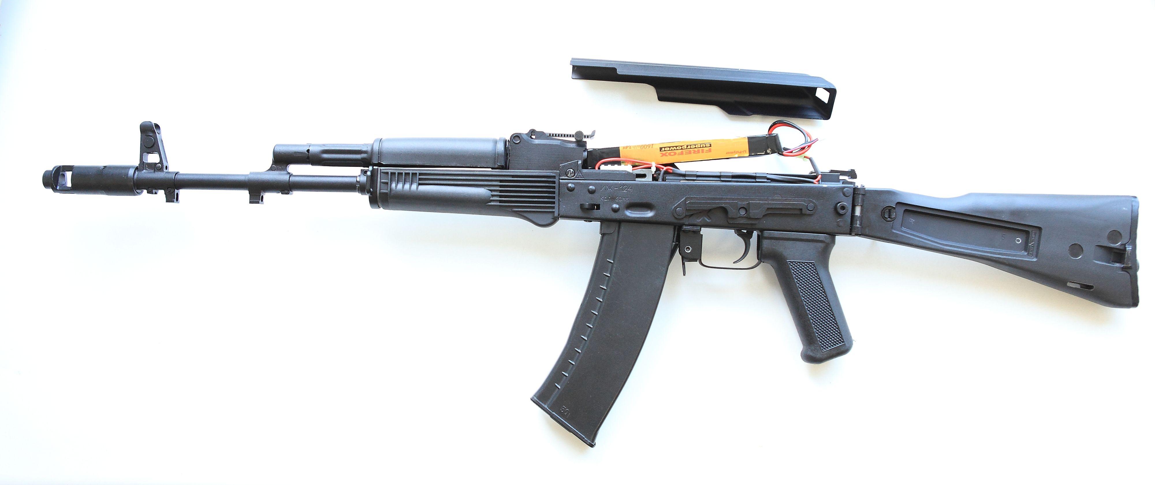 """Опытный образец АК-74М в версии airsoft, предназначенный для игры в страйкбол. Источник: ОАО """"НПО """"Ижмаш""""."""