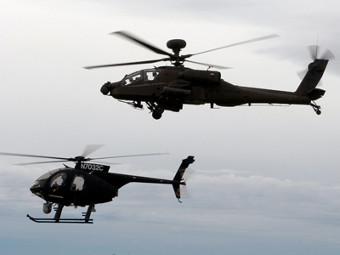 Apache Block III и ведомый им опционально пилотируемый вертолет. Фото с сайта aviationnews.eu