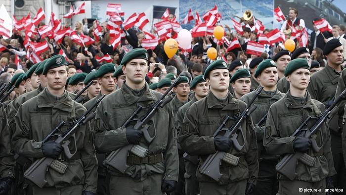 Солдаты австрийской армии. Источник: dw.de.