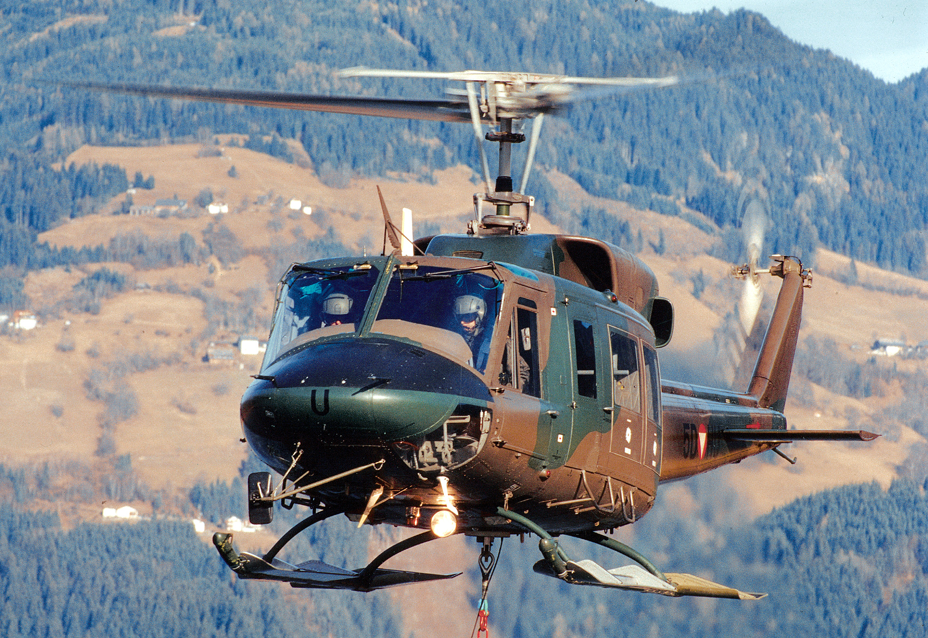 Обои AB-212, Agusta-Bell, транспортный вертолёт. Авиация foto 10
