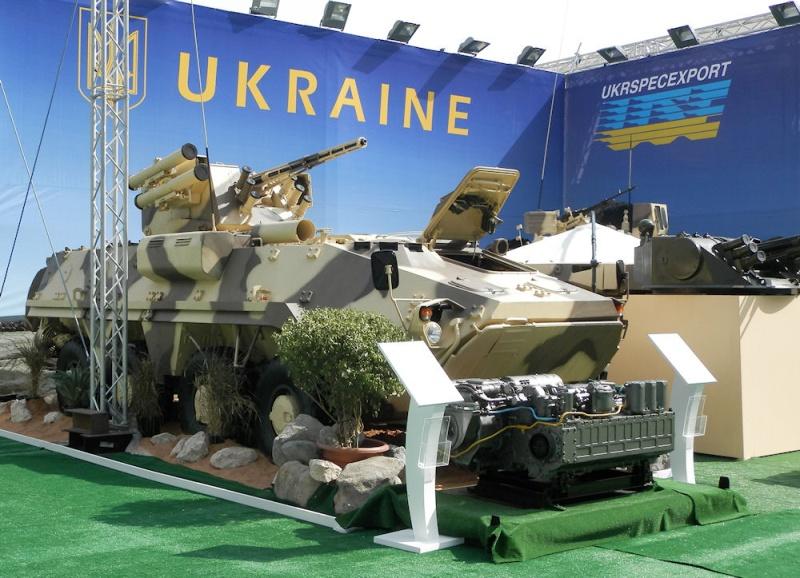 Модификация бронетранспортера БТР-4 - БТР-4МВ, представленная на Международной выставке IDEX-2013 в Абу-Даби (ОАЭ).