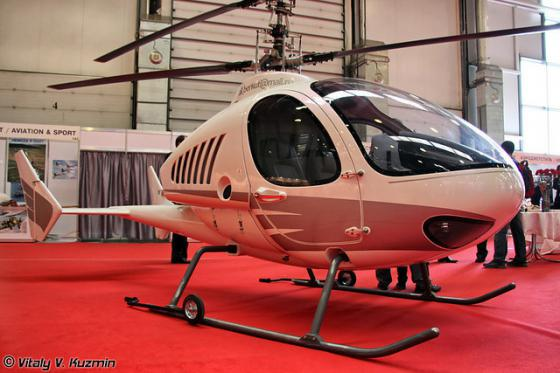 """Вертолет соосной схемы  """"Беркут """" на HeliRussia 2011."""