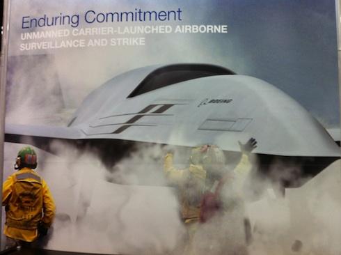 Концептуальное изображение разведывательно-ударного БЛА авианосного базирования компании Boeing