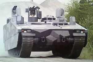 Мобильный вариант боевой машины СV90 с усиленной броней, известный под названием Armardillo.