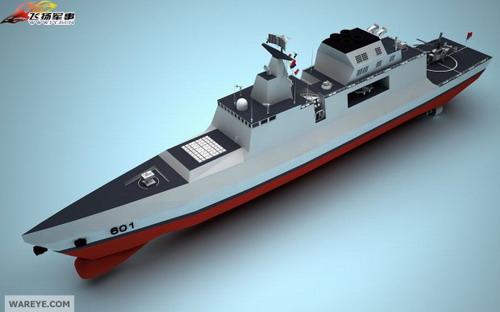 Модель китайского эскадренного миноносца нового поколения.