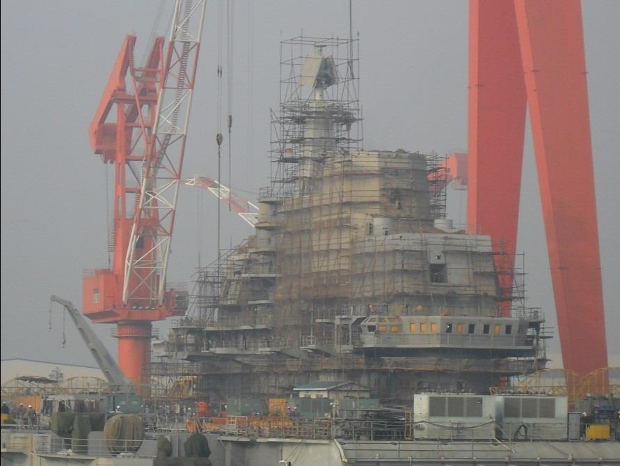 """Этап создания первого китайского авианосца на базе ТАКР """"Варяг"""" ."""