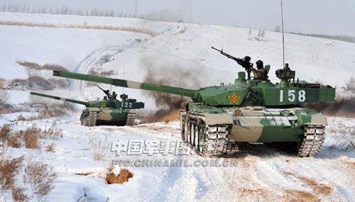 Танки Тип 99 из состава бронетанковой дивизии Шеньянского военного округа.