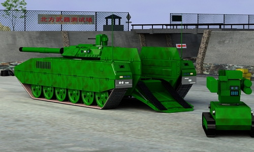 Концепция китайского танка нового поколения.