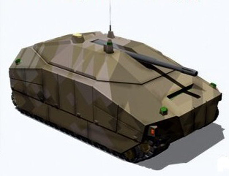 DARPA imagery of a notional Ground Combat Vehicle (GCV). DARPA image.