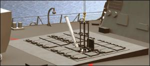 Пусковая установка ExLS состоит из легких композитных ячеек с защелками и фиксаторами, совместимыми со стандартными УВП МК 41 и МК 57. Фото - rnd.cnews.ru.