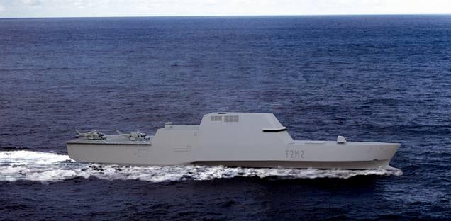 Изображения перспективного фрегата класса F-110 (Navantia). Источник: espaaenelmundo.blogspot.com.