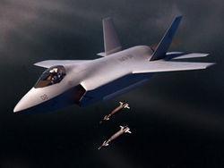 """Американский перспективный, малозаметный истребитель-бомбардировщик пятого поколения Lightning II (""""Лайтнинг"""" II)"""