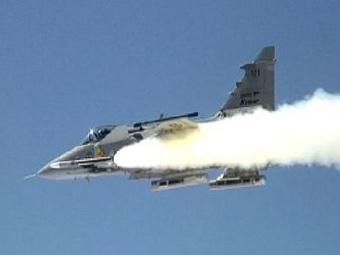 Пуск ракеты Meteor с борта истребителя Gripen