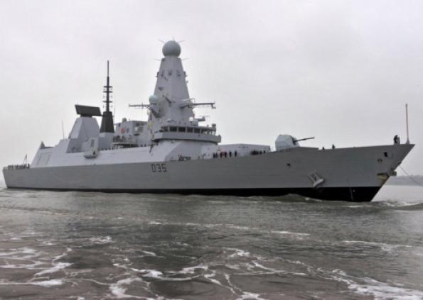 Эсминец HMS Dragon Тип 45.  Источник: www.militaryparitet.com.