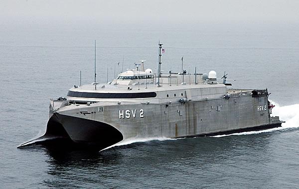 Американский быстроходный корабль HSV-2 Swift.
