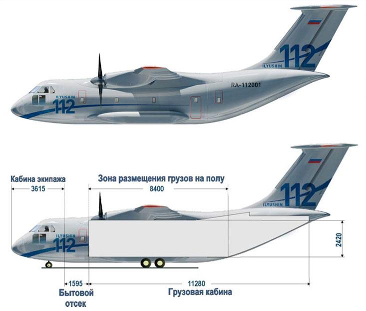 Ил-112. Источник: Военно-промышленный курьер.