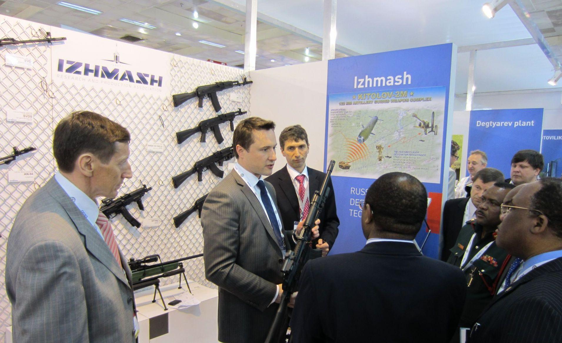 С 29 марта по 1 апреля 2012 года Ижмаш в составе Госкорпорации «Ростехнологии» принял участие в международной выставке «Defexpo India-2012». .