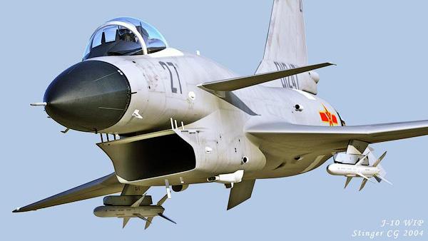 Китайский истребитель J-10.