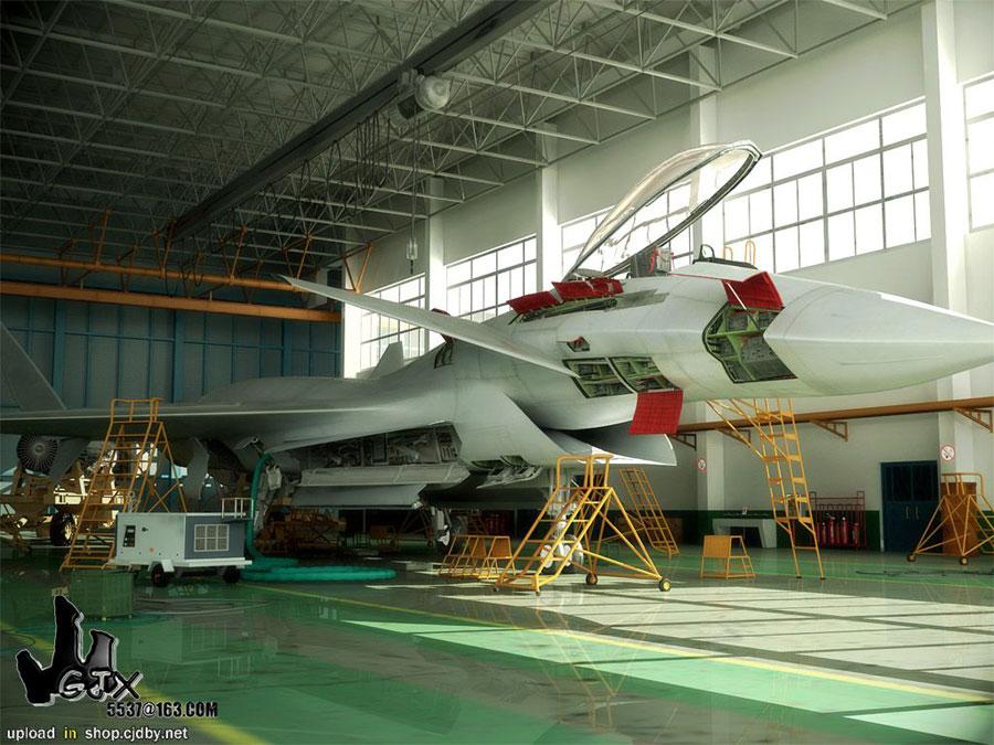 Китайский многоцелевой истребитель 4-го поколения J-14. Фото с сайта forum.athlete.ru.