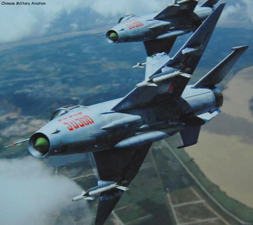 Истребитель J-7G (МиГ-21)ВВС НОАК.