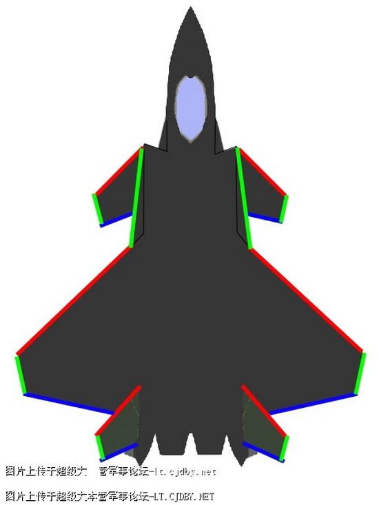 Эскизные проекции нового китайского истребителя, чаще называемого как J-14 (на Западе, по некоторым данным, самолет удостоился обозначения FireFang).
