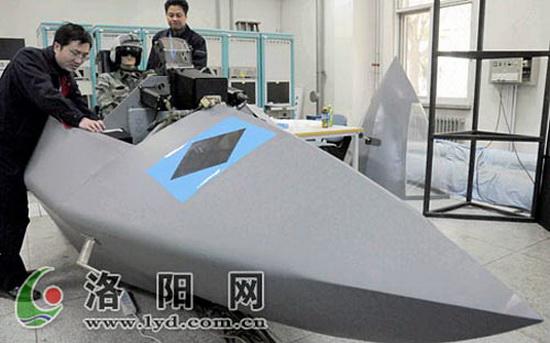 Тренажер, который может быть идентифицирован как относящийся к программе разработки китайского истребителя нового поколения J-XX.