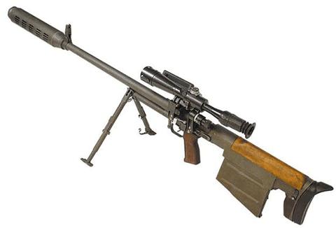 Крупнокалиберная снайперская винтовка ковровская - 12,7 мм.