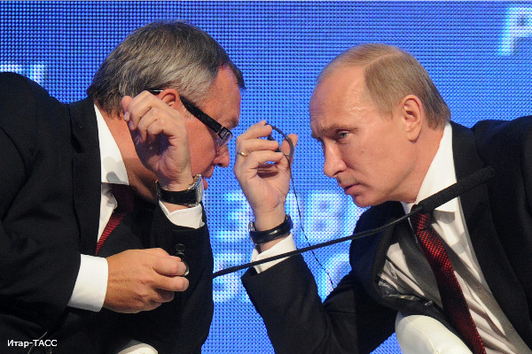 Андрей Костин и Владимир Путин.