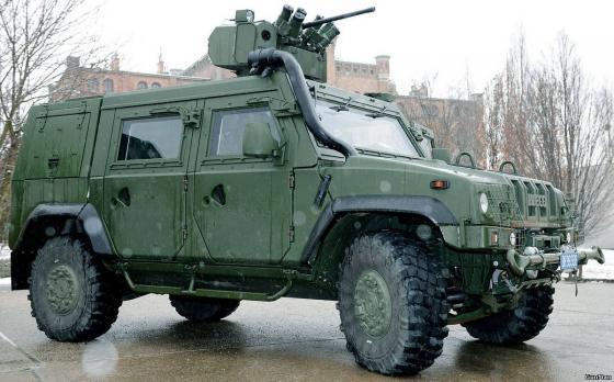Итальянский бронеавтомобиль Iveco LMV M65 с модулем вооружения