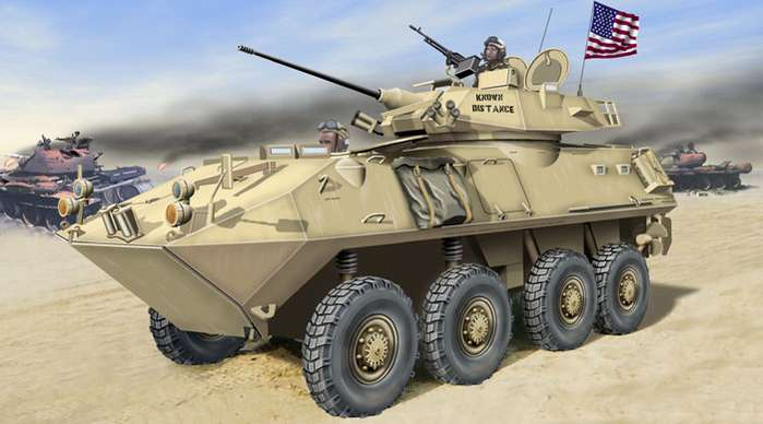 LAV-25 US Light Armored Vehicle.