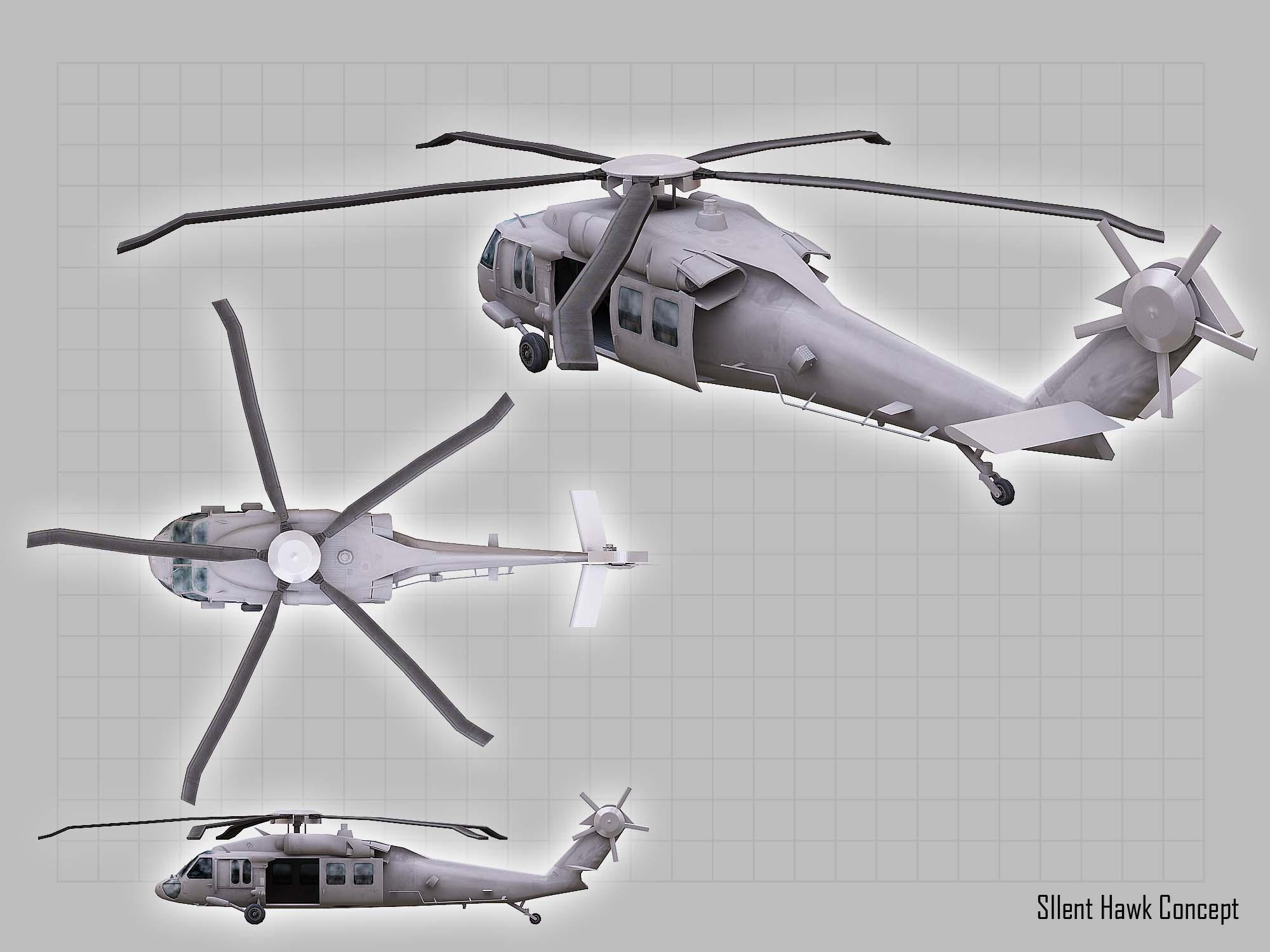 Стелс-вариант стандартного армейского вертолета UH-60 Black Hawk.