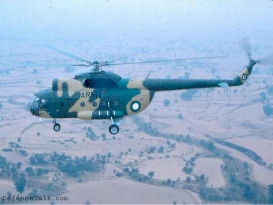 Вертолет Ми-17 пакистанской армии