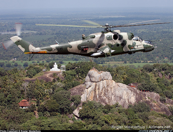 Вертолет Ми-24 ВВС Шри Ланки.