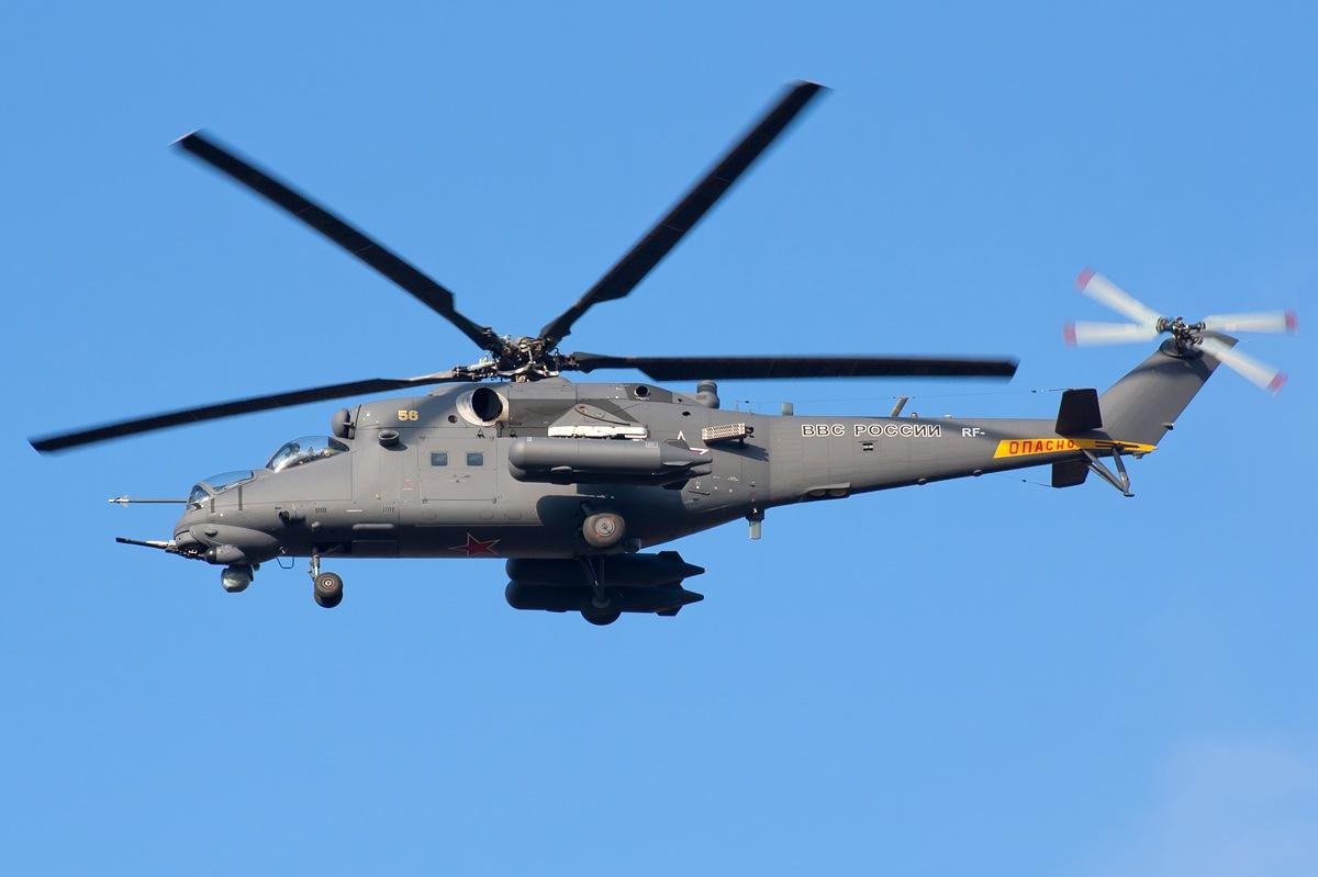 Многоцелевой ударный вертолет Ми-35М для ВВС РФ. Источник: militaryphotos.net.